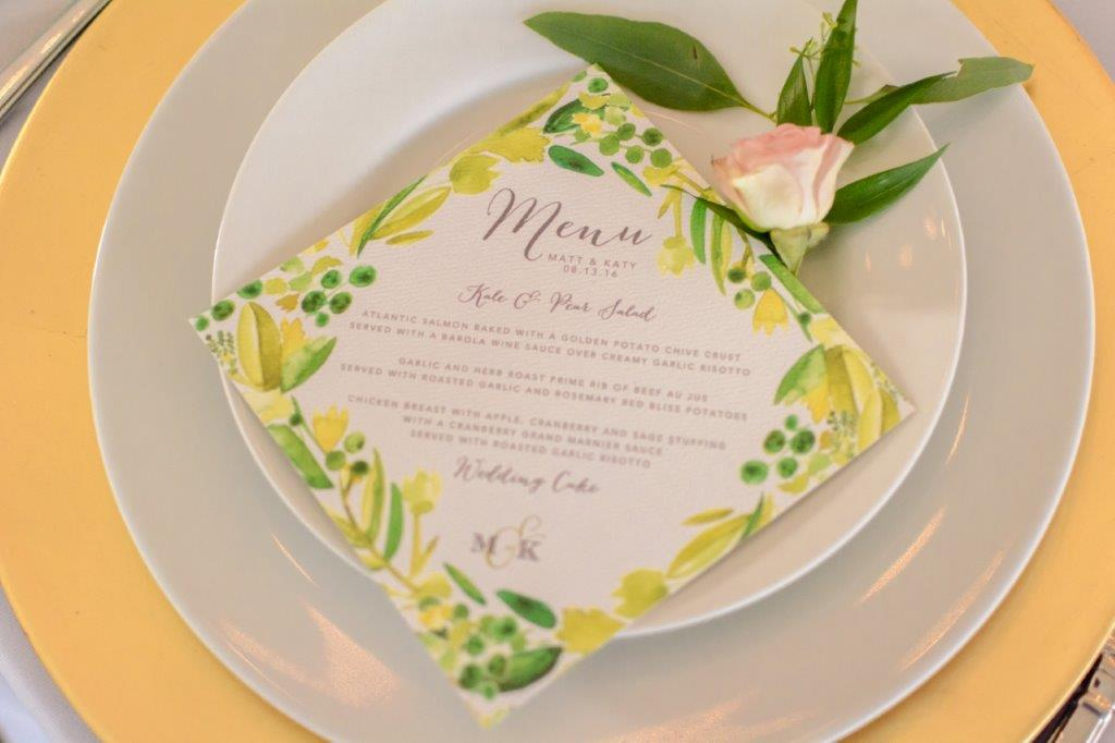 Menu Cards Virginia Bride