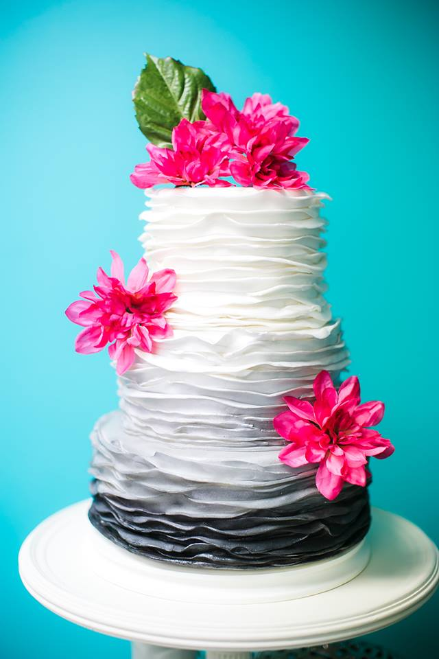 First This Layered Cake With A Touch Of Gray By Art Divas