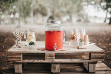 decorative punch at a rustic wedding